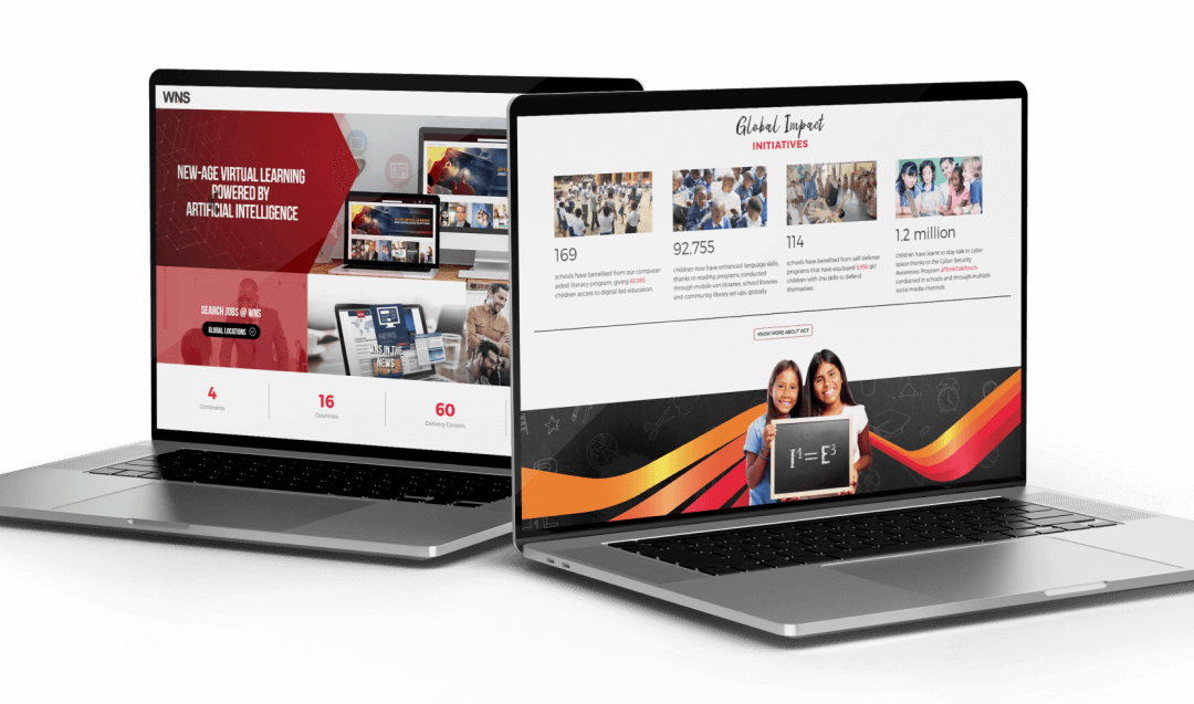 Image showing new website made for WNS